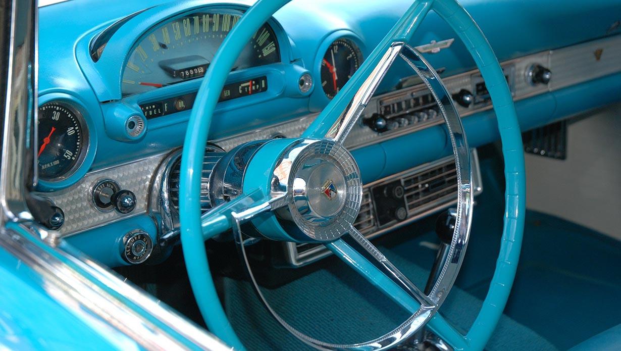 Blue classic car
