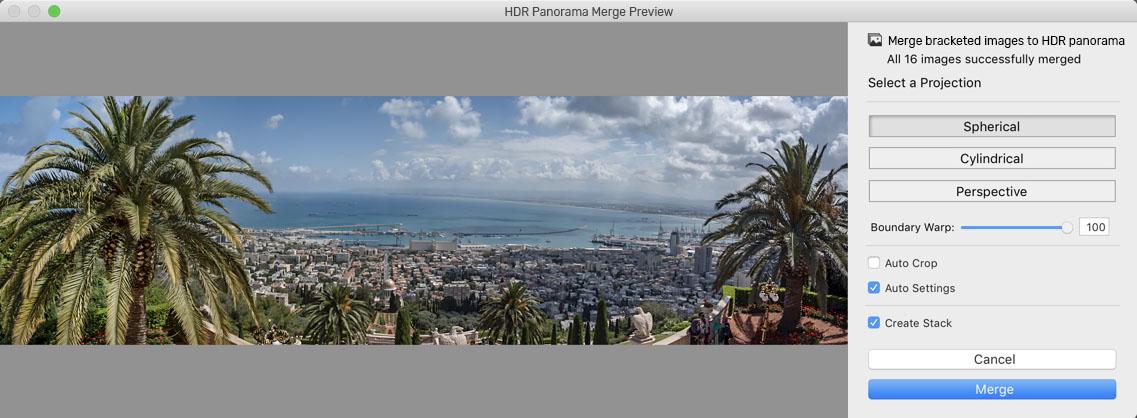 HDR Panorama Merge