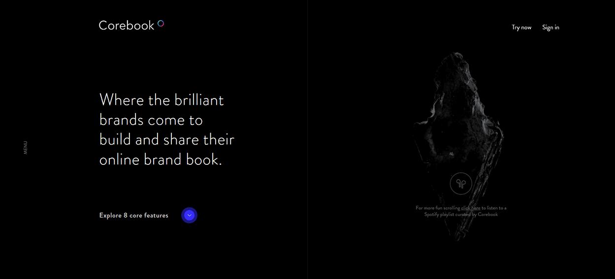 Corebook dark mode